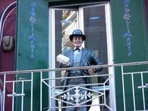 ² de representación simulado de Totà en el balcón 2 fotografía de archivo libre de regalías