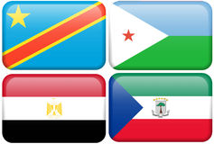 De Republiek de Kongo, Djibouti, Egypte, Eq van DEM. Guinea Stock Afbeelding