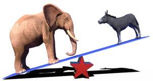De republikeinse politieke schaal van de democraatverkiezing stock illustratie