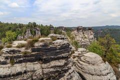 De reserve van de Basteiberg Saksisch Zwitserland Stock Afbeeldingen