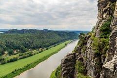 De reserve van de Basteiberg Saksisch Zwitserland Royalty-vrije Stock Afbeelding