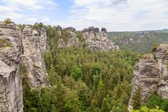 De reserve van de Basteiberg Saksisch Zwitserland Royalty-vrije Stock Afbeeldingen