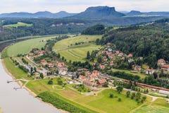 De reserve van de Basteiberg Saksisch Zwitserland Royalty-vrije Stock Foto's