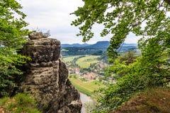 De reserve van de Basteiberg Saksisch Zwitserland Stock Foto