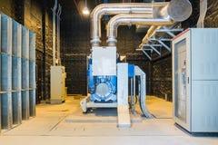 De reservemachtsgenerator of Noodsituatie Diesel Generatoreenheid zet op royalty-vrije stock afbeelding
