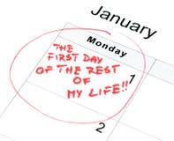 De resolutie van het nieuwjaar Stock Foto's