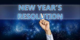 De Resolutie van nieuwjaren Stock Foto
