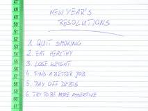 De resoluties van het nieuwe jaar Royalty-vrije Stock Afbeelding