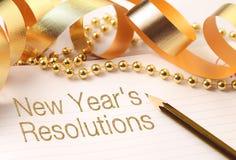 De resoluties van het nieuwe jaar Royalty-vrije Stock Foto's