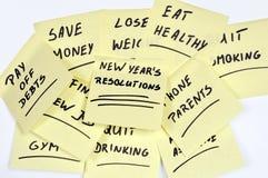 De resoluties van het nieuwjaar Stock Fotografie