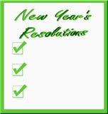 De Resoluties van het nieuwjaar Stock Afbeeldingen