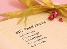 De Resoluties van het nieuwjaar Stock Foto's