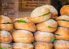 De Restaurants van Chamonix - Sandwiches Stock Foto