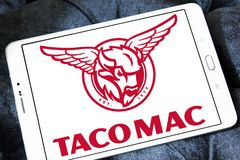 De restaurantsembleem van tacomac Royalty-vrije Stock Foto's