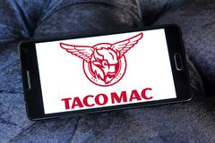 De restaurantsembleem van tacomac Stock Fotografie
