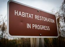 De Restauratie van de habitat Stock Afbeelding