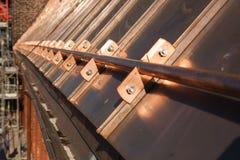 De restauratie van het kuiperdak Stock Foto's
