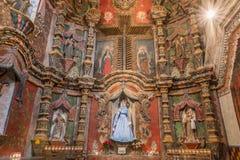 De retabel van het oosten van San Xavier Del Bac Mission, Tucson Arizona royalty-vrije stock foto's