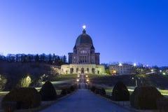 De Retorica van heilige Joseph's van Onderstel Koninklijk bij zonsopgang, Montreal stock fotografie
