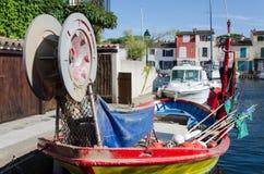 De retour d'un bateau de pêche image stock