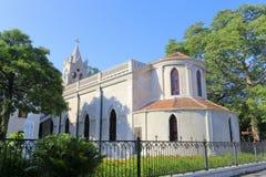 De retour de l'église catholique de gulangyu dans la ville de Xiamen, porcelaine Photographie stock
