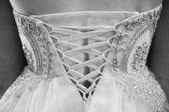 De retour de la belle robe Détail magnifique Images libres de droits