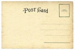 De retour de la carte postale de blanc de vintage Image libre de droits