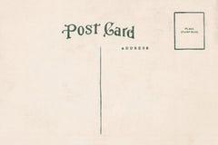 De retour de la carte postale de blanc de vintage Photos libres de droits