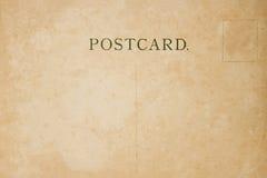 De retour de la carte postale de blanc de vintage Photographie stock