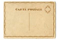 De retour de la carte postale de blanc de vintage Photo stock