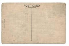 De retour de la carte postale de blanc de vintage Photographie stock libre de droits