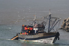 De retour de la pêche photographie stock libre de droits