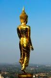 De retour de la statue d'or de Bouddha Image libre de droits