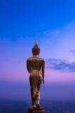 De retour de la statue d'or de Bouddha Photo libre de droits
