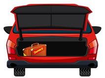 De retour de la voiture rouge illustration libre de droits