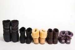 De retour des bottes d'hiver Photo libre de droits