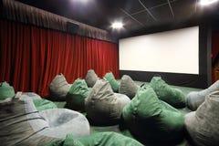 De retour des sièges confortables comme les sacs et l'écran blanc Photographie stock libre de droits