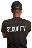 De retour du portier avec la chemise de sécurité Image stock