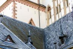De retour de l'église de Thomaskirche à Leipzig photographie stock