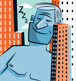 De reus van de slaap vector illustratie