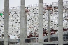 De reusachtige bouwwerf in de dag Stock Foto's