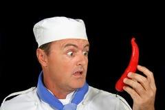 De reuze Chef-kok van de Spaanse peper Stock Afbeelding