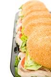 De reuze Grens van de Sandwich van de Italiaanse sandwich stock foto