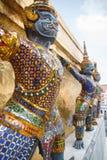 De reuzebeschermer in tempel Thailand stock fotografie