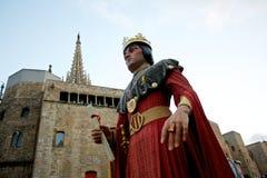 De reuzen paraderen in La Mercè Festival 2013 van Barcelona stock afbeeldingen