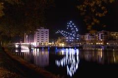 De reuzen van de nacht in Straatsburg Stock Afbeeldingen