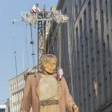 De Reuzen van Liverpool - Stad van Cultuur 2018 stock afbeelding
