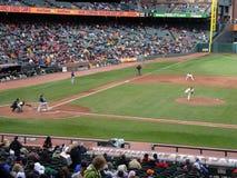 De reuzenwaterkruik Tim Lincecum werpt een hoogte aan Braves-beslag Bria Royalty-vrije Stock Afbeelding