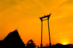 De Reuzeschommeling, Bangkok, Thailand Royalty-vrije Stock Foto's
