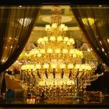 De reuzeverlichting van het luxekristal royalty-vrije stock foto's